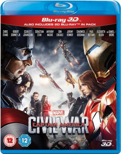 Captain America: Civil War 3D Blu Ray £12.99 @ Zavvi
