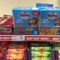 Barny ABC bears 6*25g 59p each or 2 for £1 Heron in store