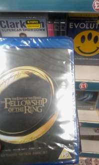 lord of the rings extended 2 disc set bluray £1 instore @ poundland.