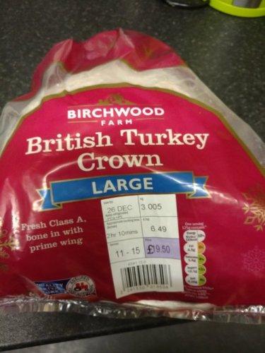 Fresh Turkey Crown £6.49 per kilo @ Lidl