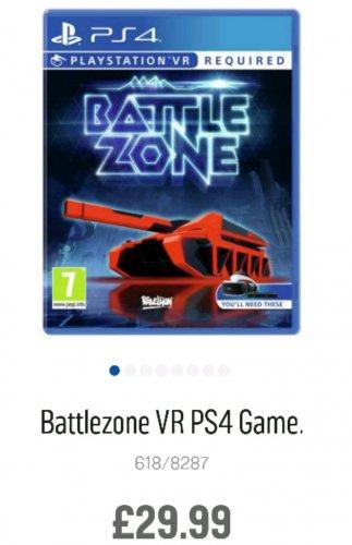 Battlezone PSVR @ Argos £29.99