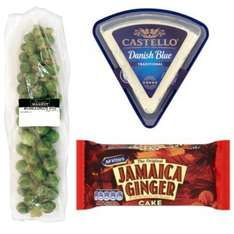 Iceland - Castello Traditional Danish Blue 150g £1, Mcvities Cakes 50p, Brussel Sprouts Stem Stalk 50p (Tuesday 20th December  2016 Only)