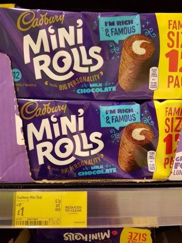 Cadbury 12 mini rolls. reduced to £1 Asda
