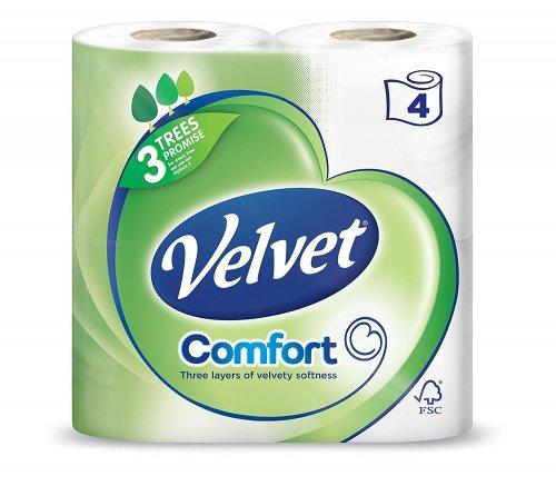 40 Velvet toilet rolls on Amazon Prime @ £12.50 (less with S&S)