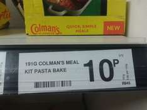 Colman's Pasta Bake Kit 10p @ Farmfoods