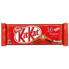 Nestle KitKat (16 pack of 2 finger bars) was £1.99 now £1.49 @ B&M
