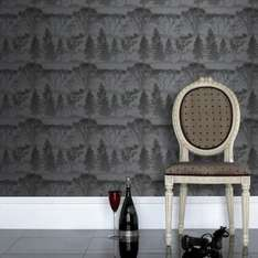 Secret sale - Mirage charcoal wallpaper was £17 now £7.50, Toile gold wallpaper was £20 now £5 more in post all free express delivery today 21/12 @ Graham and Brown