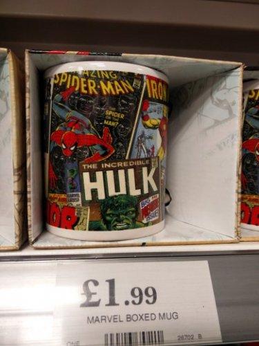 Marvel Mug (Ideal stocking filler) Only £1.99 @ Home bargains