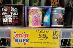 Assorted Mugs 59p (Nightmare on Elm Street, Adventure Time) @ Home Bargains