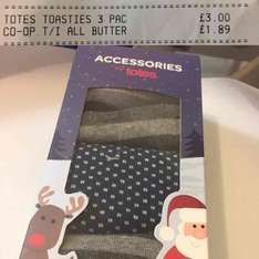 Men's Totes Toasties 3 Pack  £3 instore The Co-Op