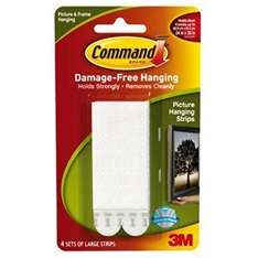 Command Damage Free Hanging Picture Hanging Strips (4 Pairs of Medium or Large) £2.00 at Tesco Outlet and 3 for 2
