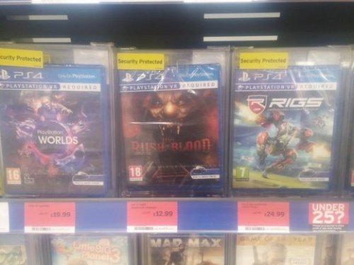 Various PSVR games reduced £12.99 @ Sainsburys (Ipswich)