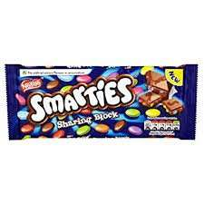 Smarties Sharing Block Bar 120g only 49p instore  Home Bargains