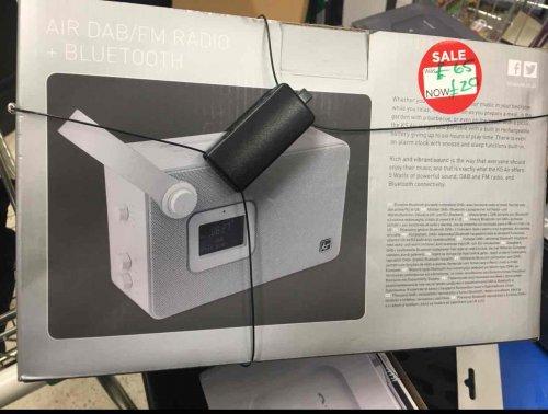 KitSound Air Audio DAB/FM/Bluetooth Radio Alarm Clock Speaker £20 Asda