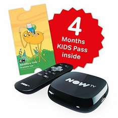 Now TV Box with 4 Months Kids Pass £14.24 (Prime) / £18.99 (non Prime) at Amazon