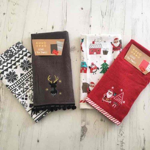 Primark Christmas Tea Towels (Set Of 2) Now £1