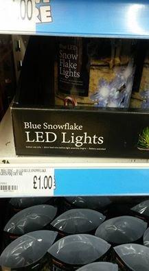 Blue LED Snowflake Lights 10 Pack £1 @ Poundland