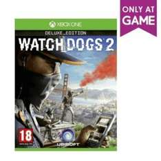Watch Dogs 2 Deluxe Edition -  Xbox One/PS4 instore and online at Game for £27.99