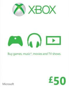 Xbox Liv £50 for £25@ Gamestop (free over £20)