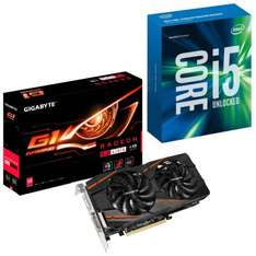 AMD & INTEL COLLABORATION: INTEL 6600K CPU & GIGABYTE RX 480 G1 4GB GRAPHICS CARD and Four Free Games! See Description £418.98 / £427.68 delivered @ Overclockers