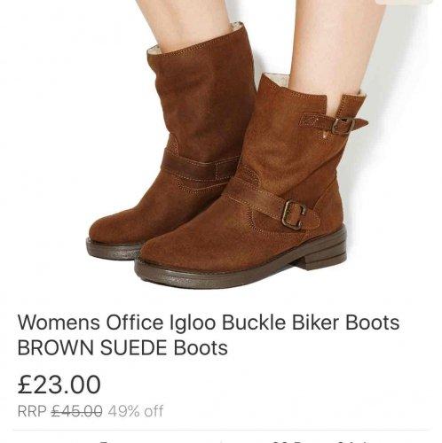 Womens Office Biker Boots £23 @ Office eBay Store
