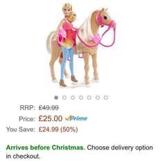 barbie dancing horse £25 Delivered @ Amazon