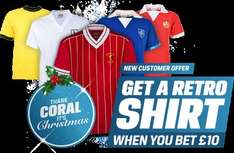 bet £10 and get a £40 voucher for toffs @ Coral