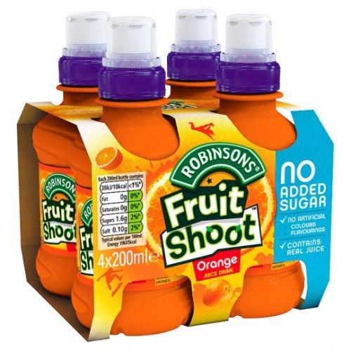 Robinsons Fruit Shoot Orange No Added Sugar 4X200ml 94p @ Tesco