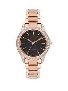 £80 NOW Black dial gold band Citizen eco drive ladies watch only £89 at very possibly £69 with £20 voucher off