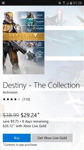 Destiny Collection £16.52 xbox.com canada