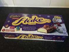 Cadbury Festive Flake Cakes 6 pack 89p or  2/£1.50 Fultons