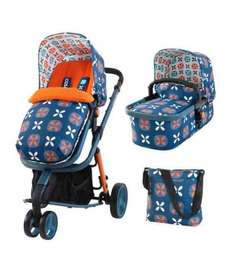 Cosatto Travel System pushchair, carrycot, car seat, change bag £350 Mothercare
