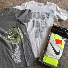Nike Outlet in store - youth goalkeeper gloves £2 - boys tshirts £4.50