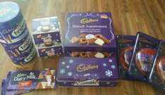 Cadbury's in store at Heron Foods - Tin of Fingers £1, 2 boxes of biscuits £1, 3 packs tree decorations £1