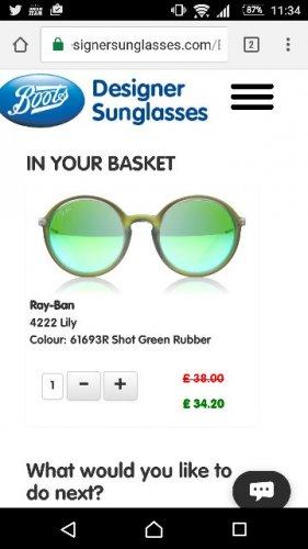 Ray-Ban Lily 4222 Sunglasses £34.20 from £103 bootsdesignersunglasses