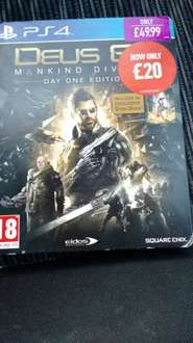 Deus Ex Mankind Divided Steelbook £20 @ Game instore
