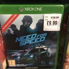 need for speed Xbox one at £9.99 HMV oxford street
