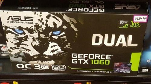 Asus GTX 1060 3gb £189.99 @ GAME Craigavon