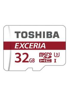 Toshiba 32GB, Speed: UHS-1 U3 (30 MBytes/s - for HD videos) MicroSD with adapter on Base.com - £8.99