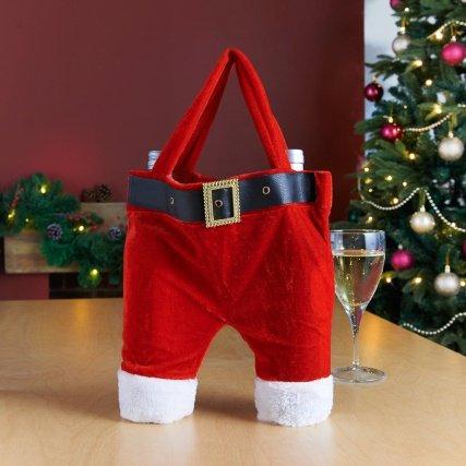 Santa's Trousers Wine Bottle Bag - Holds 2 Bottles! NOW £1 @ B&M