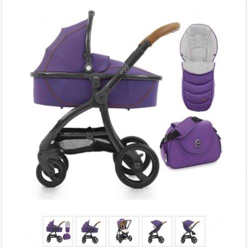 egg Stroller + Carrycot & Accessories Gothic Purple only £569 @ Winstanleys Pramworld
