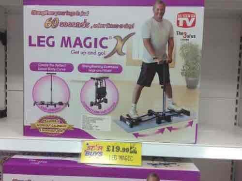 Leg Magic Fitness Machine £19.99 (RRP £79.99) @ Home Bargains