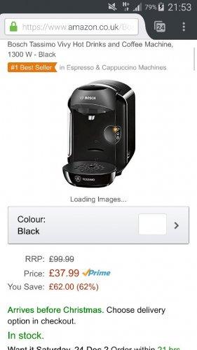 Bosch Tassimo Vivy £37.99 @ Amazon