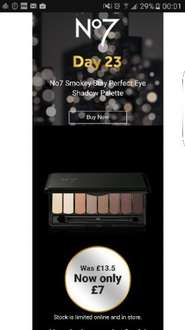 Day 23 No7 daily deal - smokey & nude stay perfect eye shadow palette @Boots online/instore