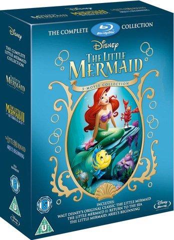 The Little Mermaid 1-3 Blu-ray £12.99 on Zavvi