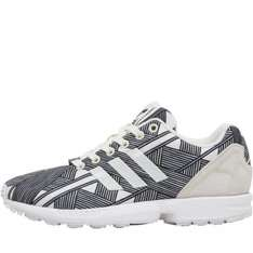adidas Originals Womens ZX Flux Print Trainers White/Core Black/White at MandMDirect for £27.48 delivered