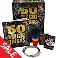 January sale started early items from 10p, Magic trick set rrp £14.99 now £3.50, Balloon modelling kit in tin rrp £12.99 now £3.50 @ The Works