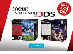 Up to £40 off New Nintendo 3DS Bundles (£149.99) @ Nintendo + 9.2% Cashback with TCB