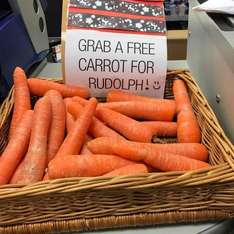 A nice touch get a  free carrot for Rudolph @ Co-Op instore