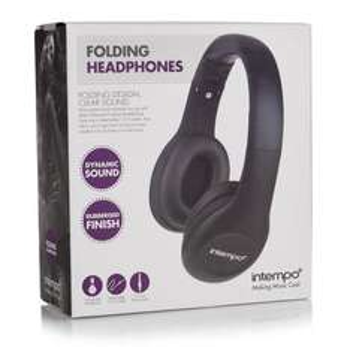 Intempo Folding Over-ear Headphones £5@wilko [was £10]